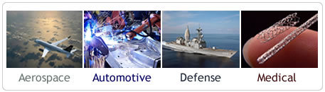 Laser Markets - Aerospace, Automotive, Defense and Medical Devices